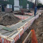 bouwmaterialen voor de ingang bij paintball hillegom
