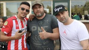 Rapper boef eigenaar Alex Abbink en Hanni hanna bij Paintball Hillegom