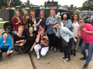 vrijgezellenfeest met vrouwen bij paintball hillegom